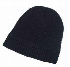 Black beanie hat winter thermal hat HT515199